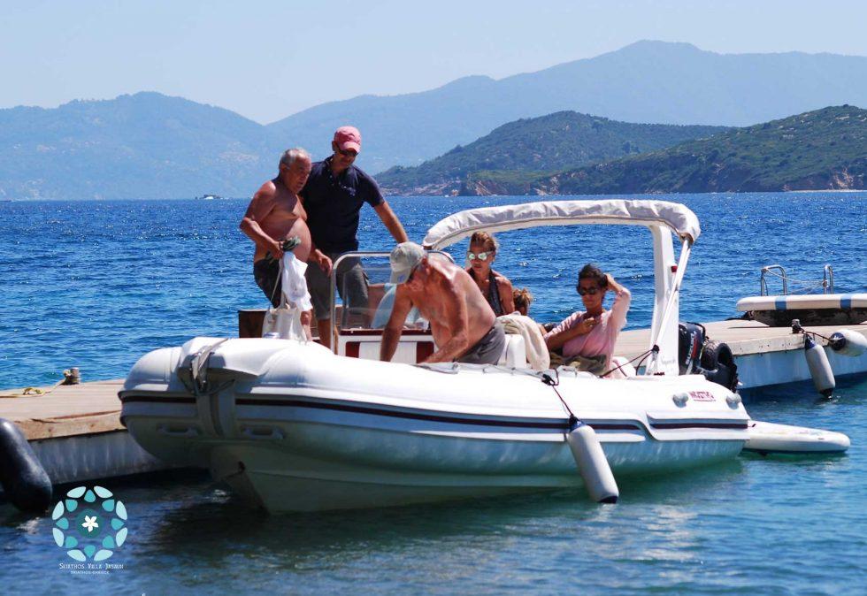 skiathos villa jasmin services boat trips