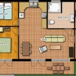floor plan of two bedroom apartment